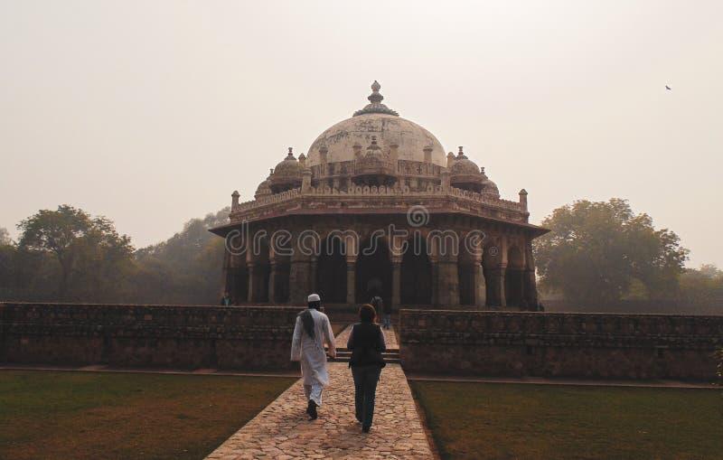 Tumba del ` s de Humayun en Delhi, la India imagenes de archivo