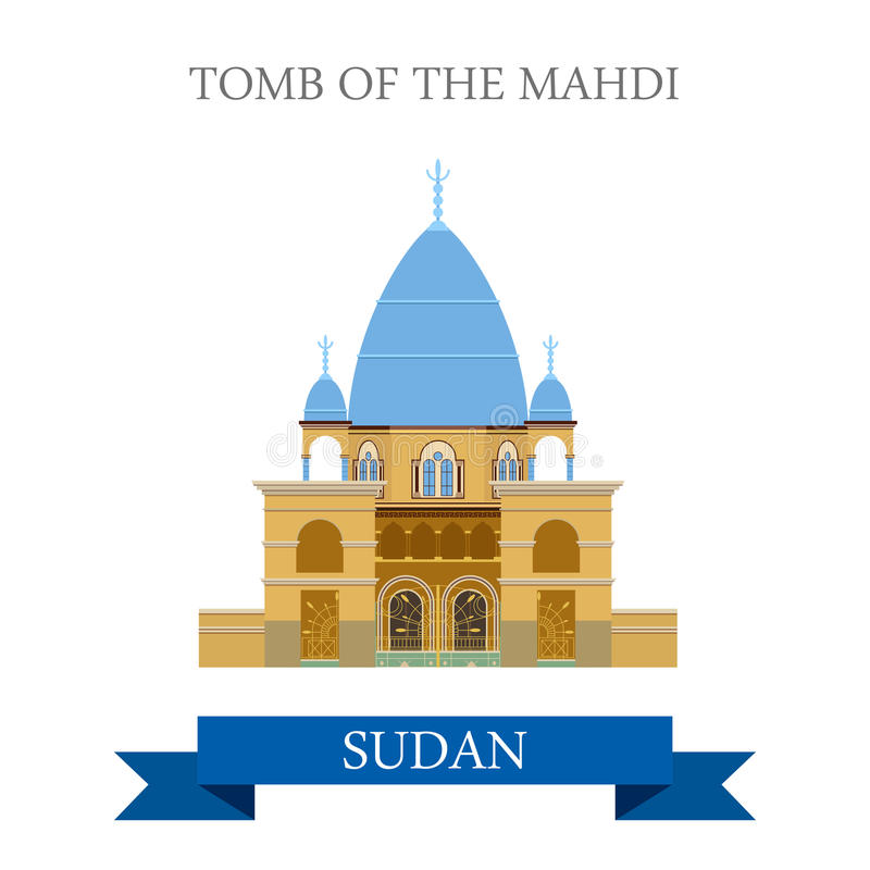 Tumba del vector histórico del web del estilo de Mahdi Sudan Flat libre illustration