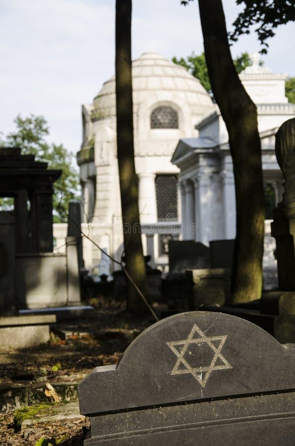 Tumba en Lodz Cementary judío fotografía de archivo libre de regalías