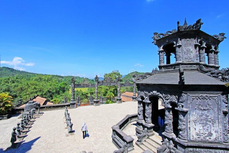 Tumba imperial de Khai Dinh, sitio del patrimonio mundial de la UNESCO de Hue Vietnam imágenes de archivo libres de regalías