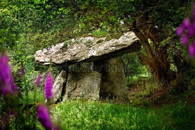 Tumba porta de Gaulstown en Irlanda imagenes de archivo