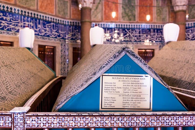 Tumba Sultan Suleyman turco legendario o suleiman magnífico fotos de archivo