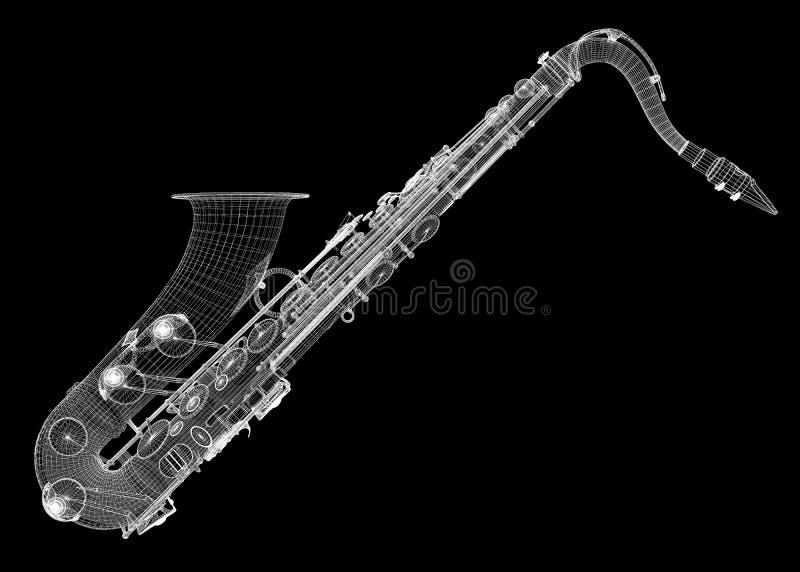 Tumbado de Saxofon ilustração royalty free