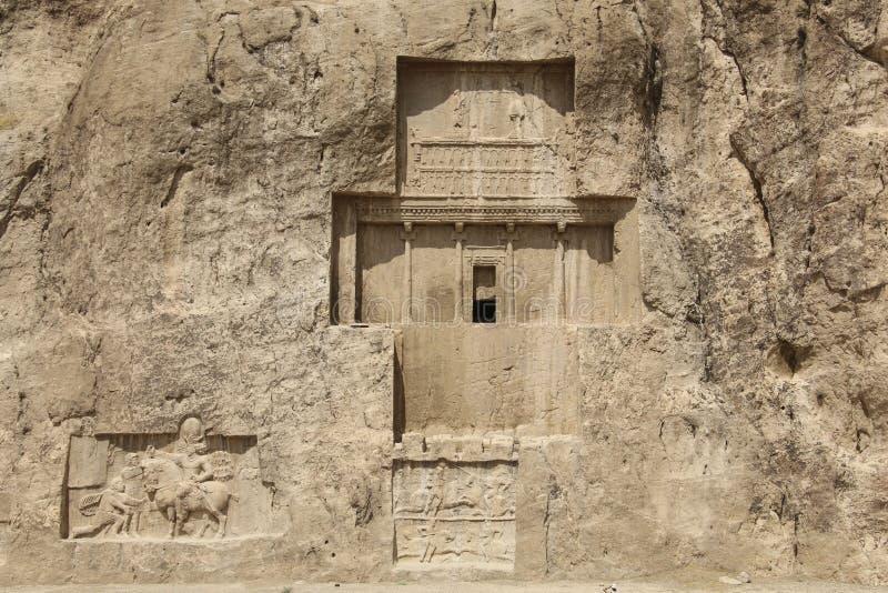 Tumbas antiguas de los reyes del Achaemenid en Naqsh-e Rustam en el norte fotografía de archivo libre de regalías