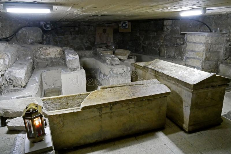 Tumbas de la iglesia del santo Lazarus, Larnaca, Chipre imágenes de archivo libres de regalías