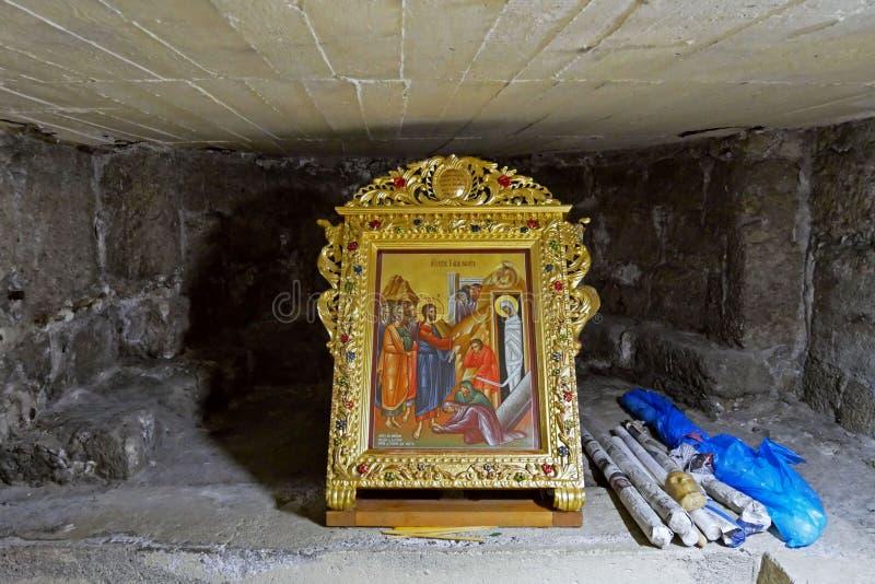 Tumbas de la iglesia del santo Lazarus, Larnaca, Chipre fotografía de archivo libre de regalías