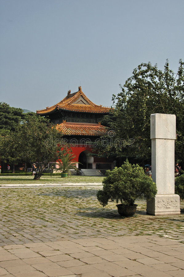 Tumbas de Ming fotos de archivo