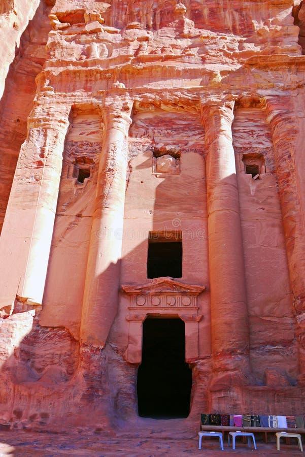 Tumbas del Petra, JORDANIA fotografía de archivo libre de regalías