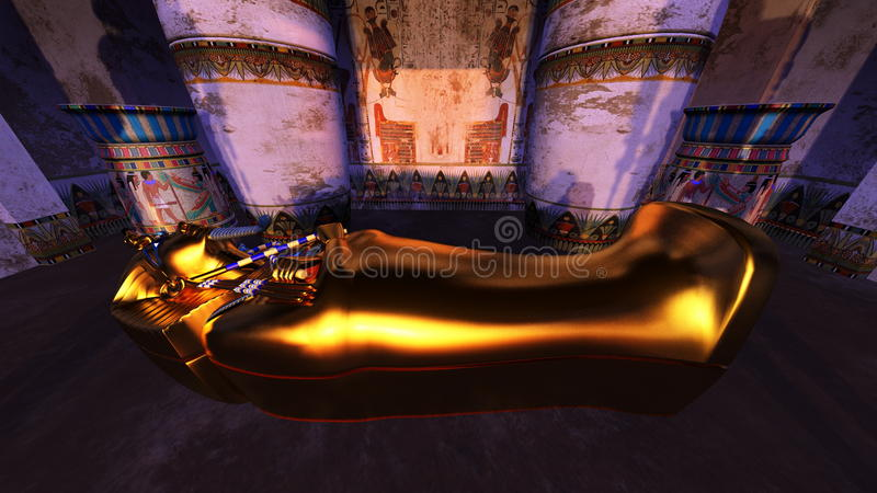 Tumbas egipcias ilustración del vector
