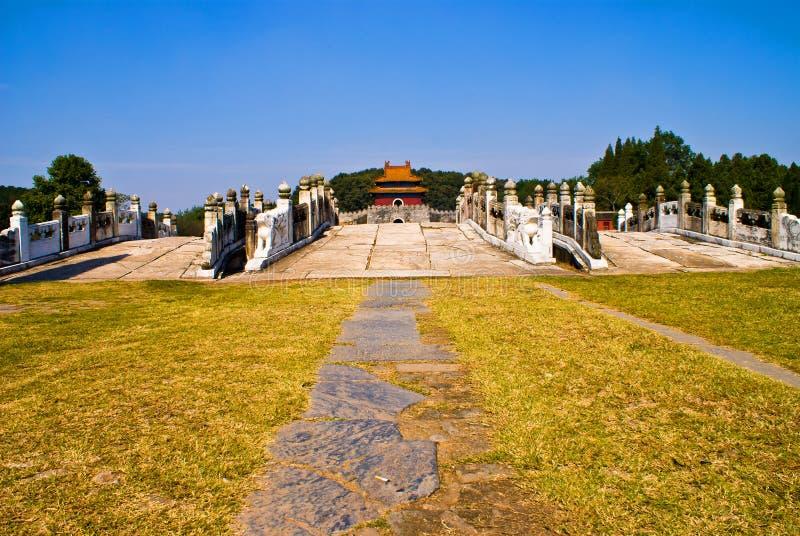 Tumbas imperiales chinas de la dinastía de Ming imagenes de archivo
