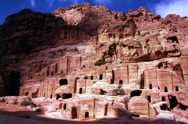 Tumbas reales del Petra fotografía de archivo libre de regalías