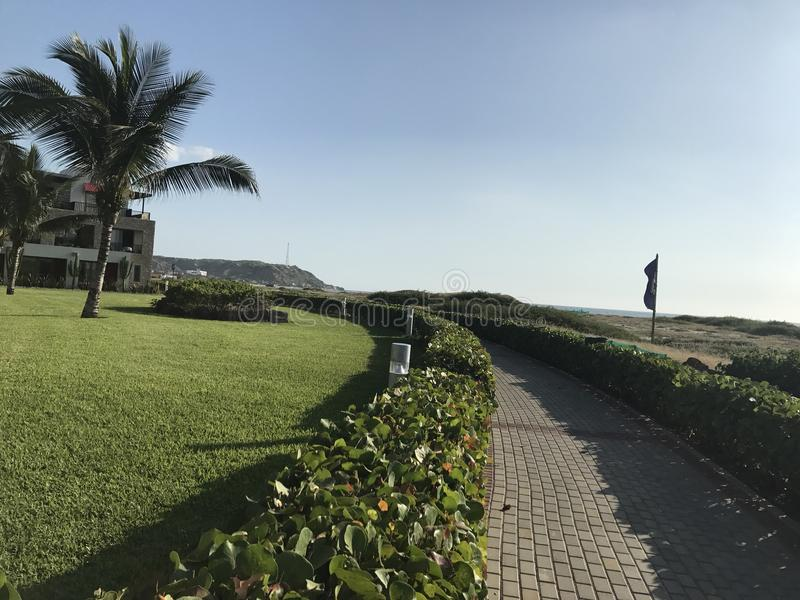 Tumbes Perù di vista di oceano fotografia stock libera da diritti