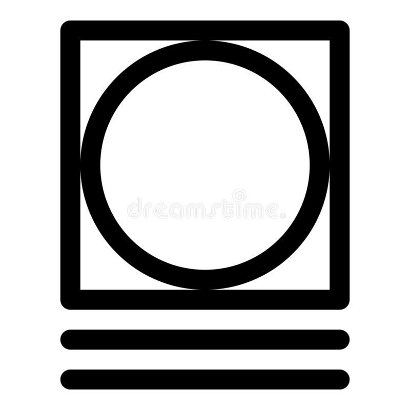 Tumble dry very delicate icon, outline style vector illustration