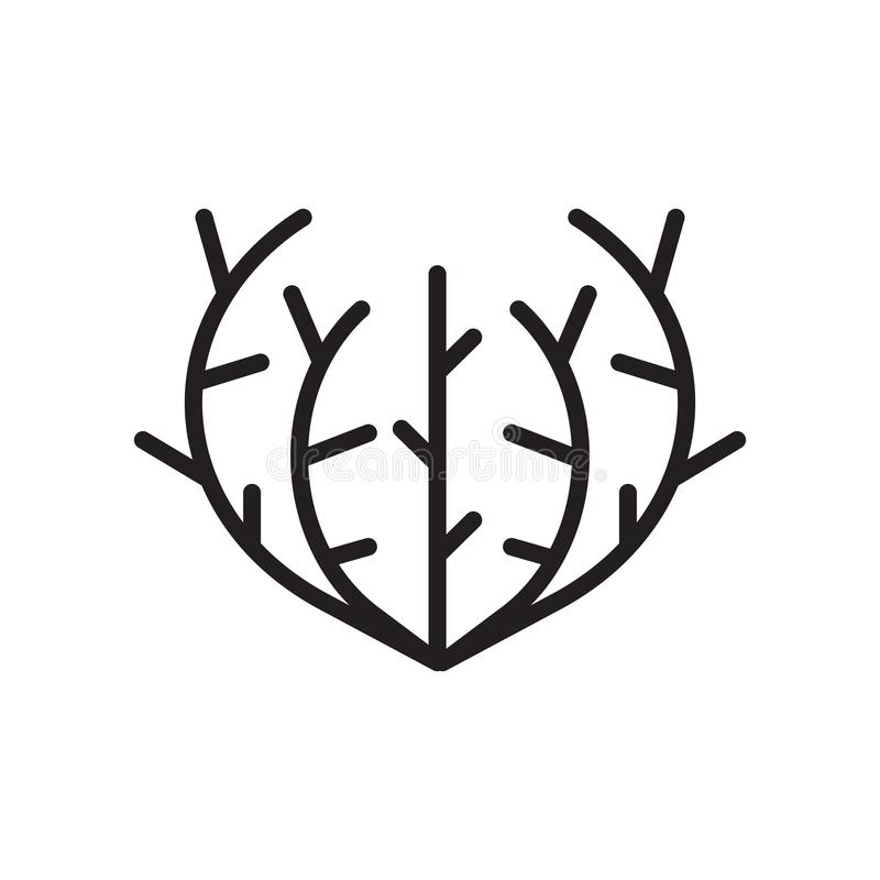 Tumbleweed icon vector sign and symbol isolated on white background, Tumbleweed logo concept royalty free illustration