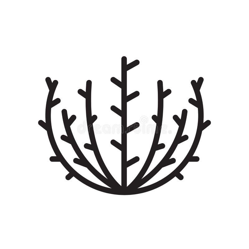 tumbleweed ikona odizolowywająca na białym tle royalty ilustracja