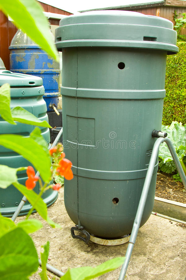 Download Tumbling Composter stock photo. Image of gardener, beans - 20491832