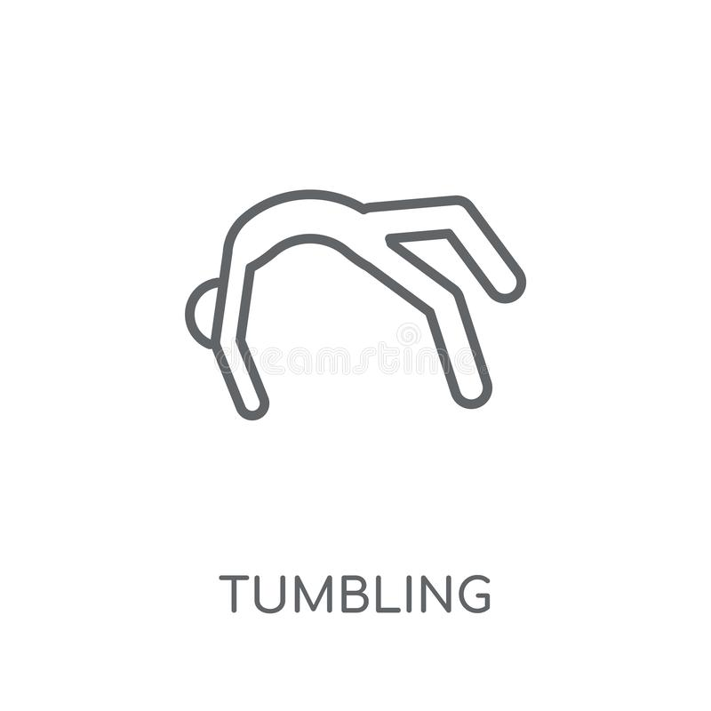 tumbling linear icon. Modern outline tumbling logo concept on wh royalty free illustration