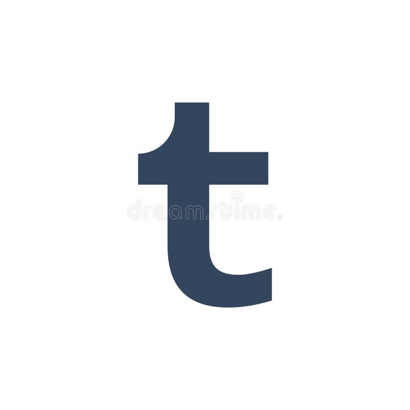 Tumblr ha colorato l'icona Elemento dell'icona sociale dell'illustrazione del logos di media I segni ed i simboli possono essere  illustrazione di stock
