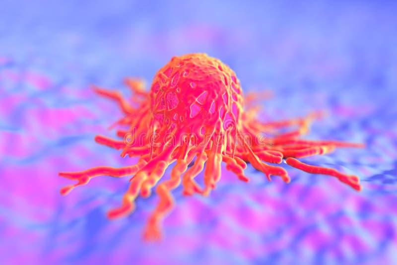 Tumeur de cellules de Cancer illustration stock