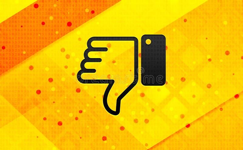 Tummar ner bakgrund för abstrakt digitalt baner för symbol gul royaltyfri illustrationer