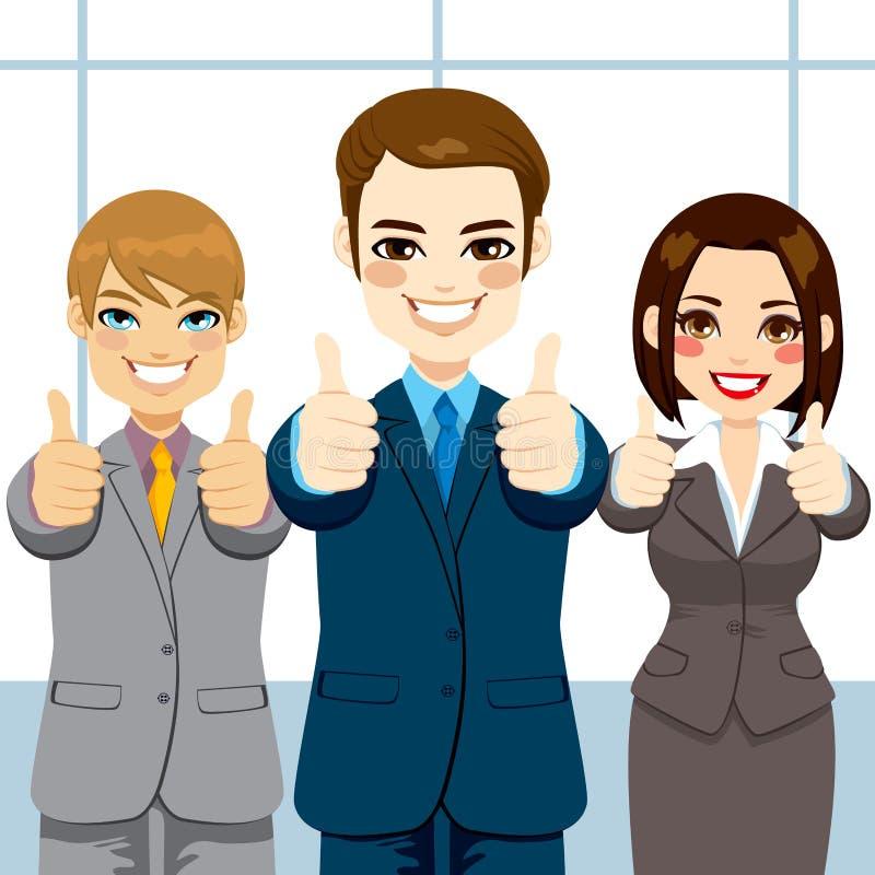 Tummar Up affärsfolk vektor illustrationer