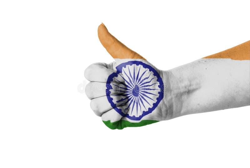 Tumme upp för Indien arkivfoton