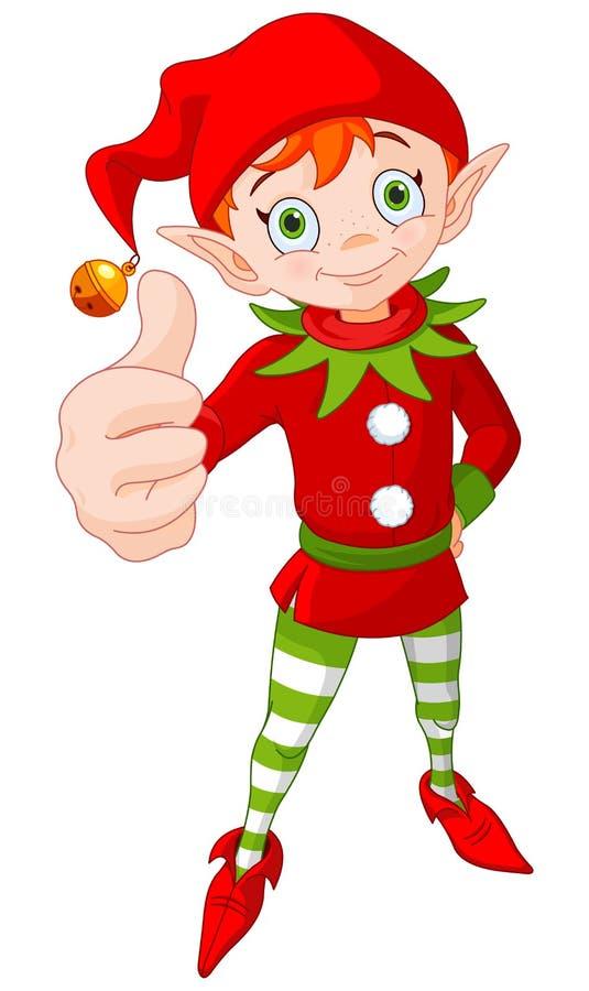 Tumme upp julälva stock illustrationer