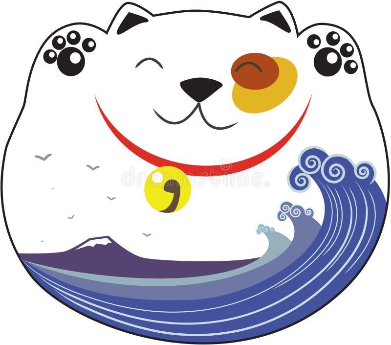 tummy neko maneki που κυματίζουν στοκ εικόνες με δικαίωμα ελεύθερης χρήσης