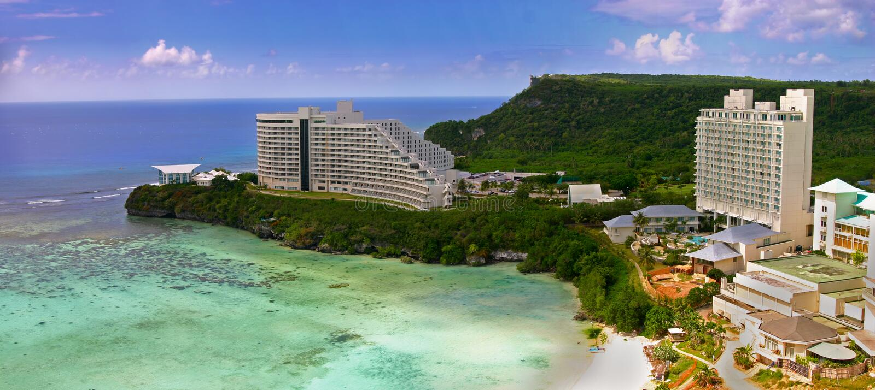Tumon Bay in Guam stock photography