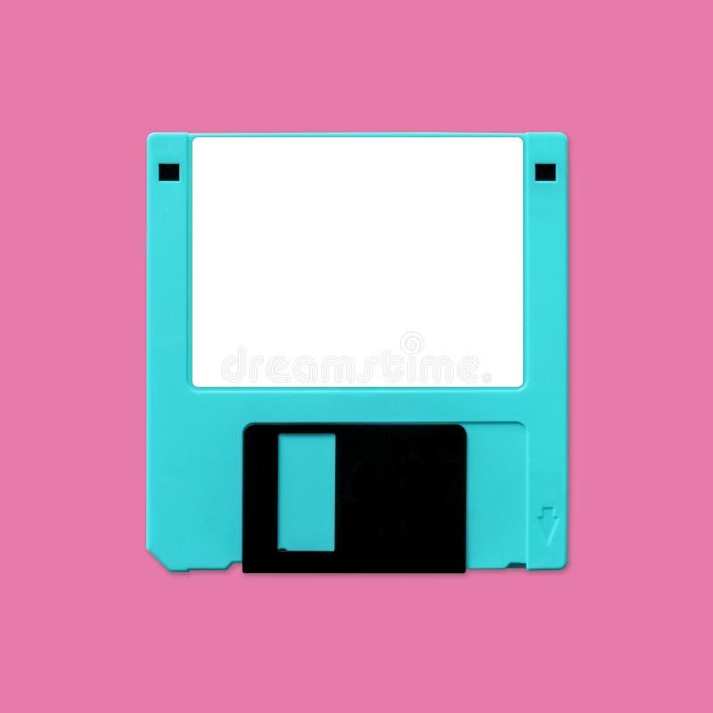 3 5-tums diskettenhet med tom etikett för anpassning royaltyfri fotografi