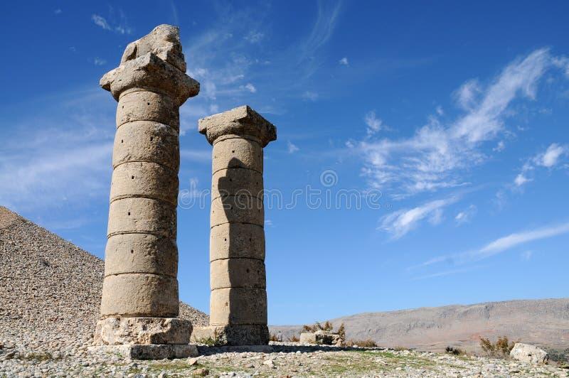 Tumulo di Karakus nell'area di Nemrut Dagi, l'Anatolia orientale immagini stock libere da diritti