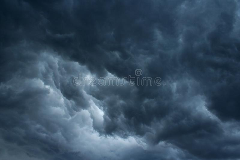 TUMULTUOUS STORM CLOUDS royalty free stock photo