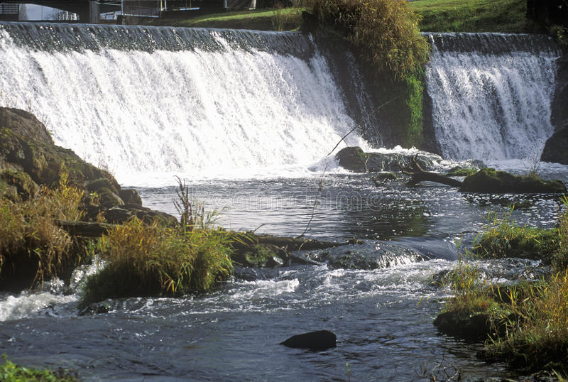 Tumwater Falls Park, OR, home of Olympia Beer Brewing Company stock photography