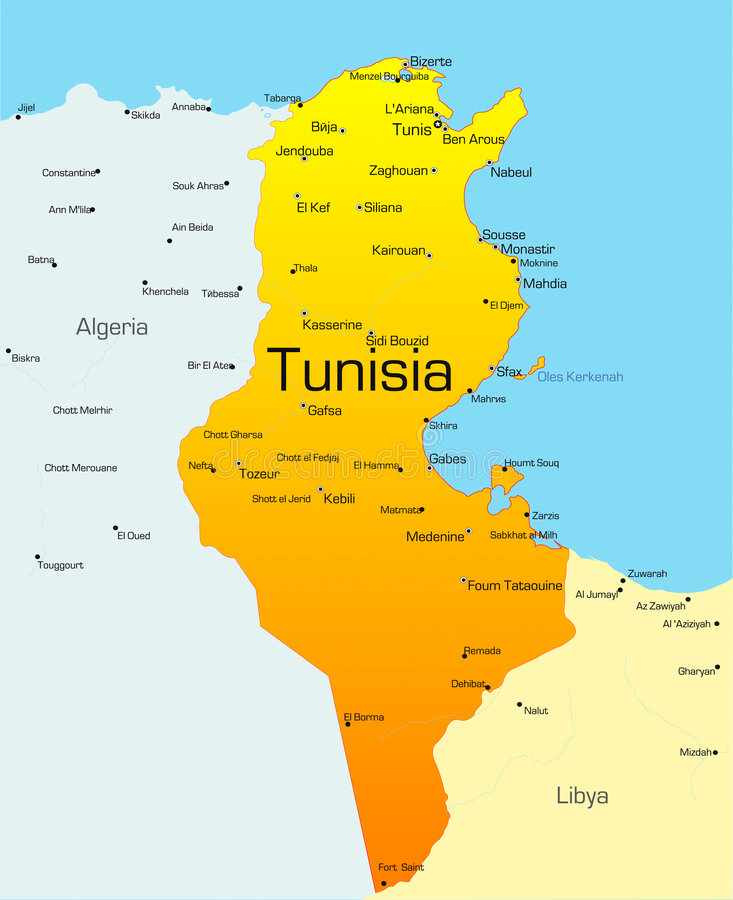 Tunísia ilustração stock