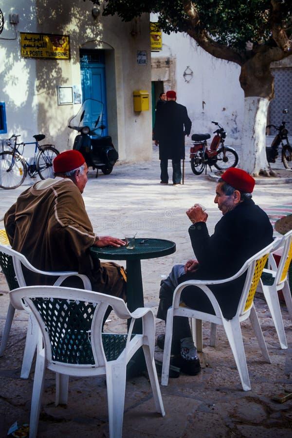Tunísia, Bizerte, Tunes - chapéus típicos tunisinos imagem de stock royalty free
