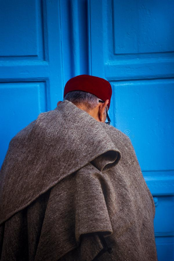 Tunísia, Bizerte, Tunes - chapéus típicos tunisinos imagens de stock royalty free