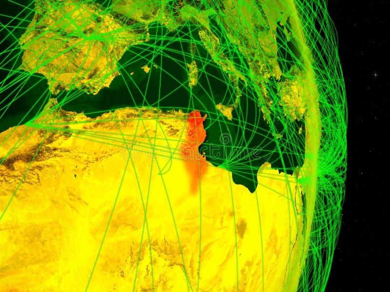 Tunísia na terra digital ilustração do vetor