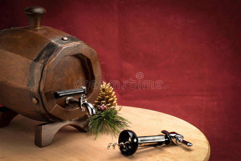 Tun on Table with Corkscrew stock photos
