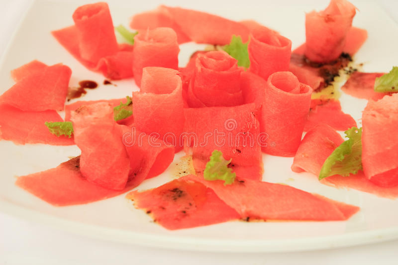 Tuna carpaccio royalty free stock images