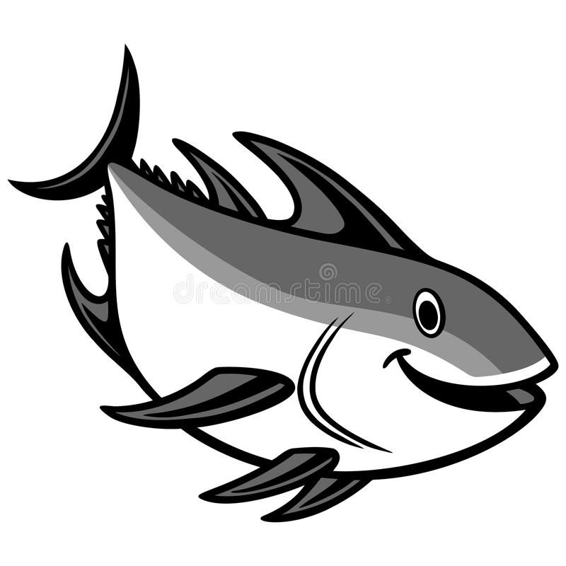 Download Tuna Diving Illustration stock vector. Illustration of mascot - 83723999