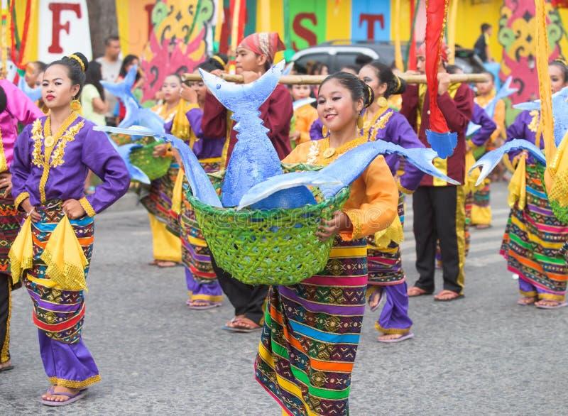 Tuna Festival in generale Santos City, le Filippine fotografie stock libere da diritti