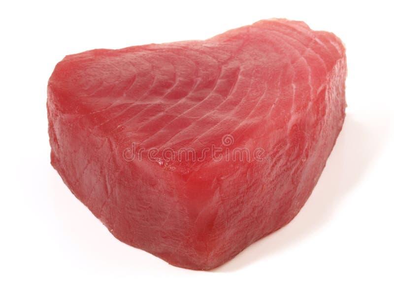 Tuna Fish Fillet. On white Background stock photo