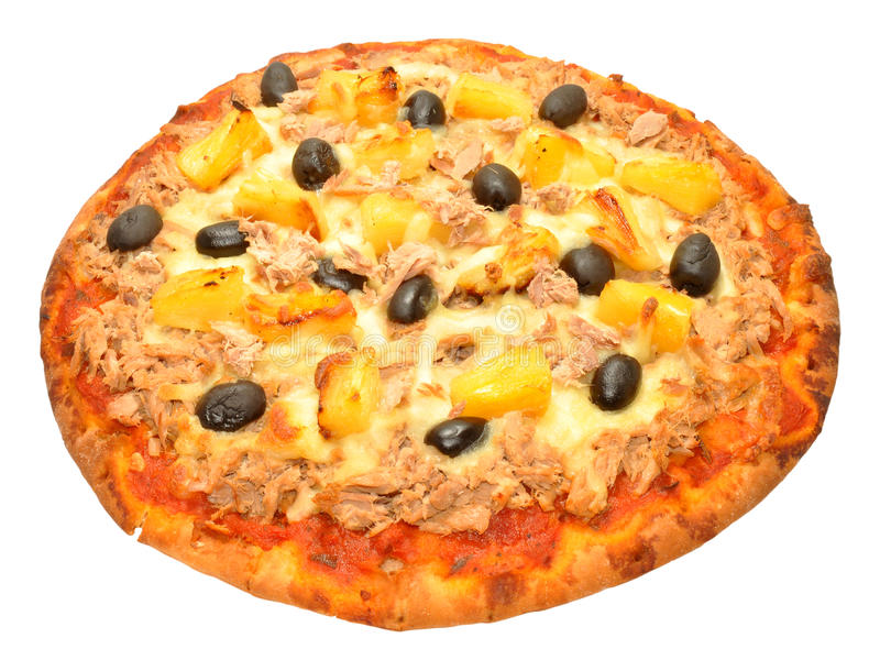 Tuna Fish And Pineapple Pizza royalty free stock images