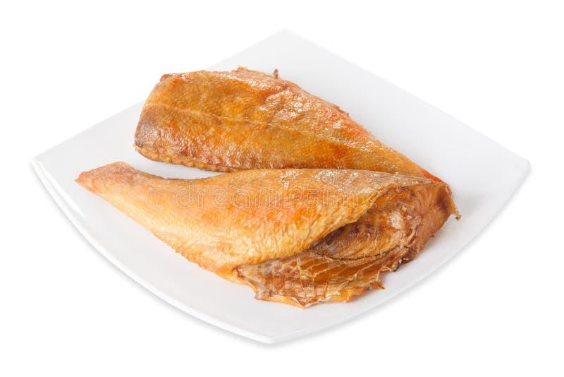 Tuna Fish Steaks cruda fresca aislado en el fondo blanco, visión desde arriba, primer imagenes de archivo