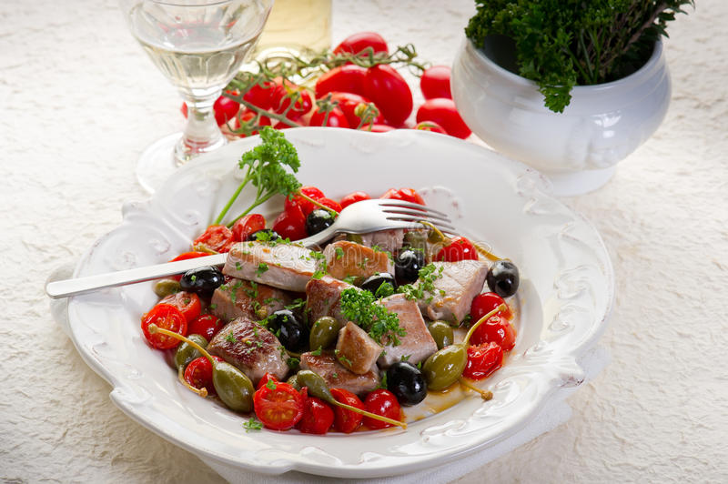 Tuna Messinese Recipe Stock Image