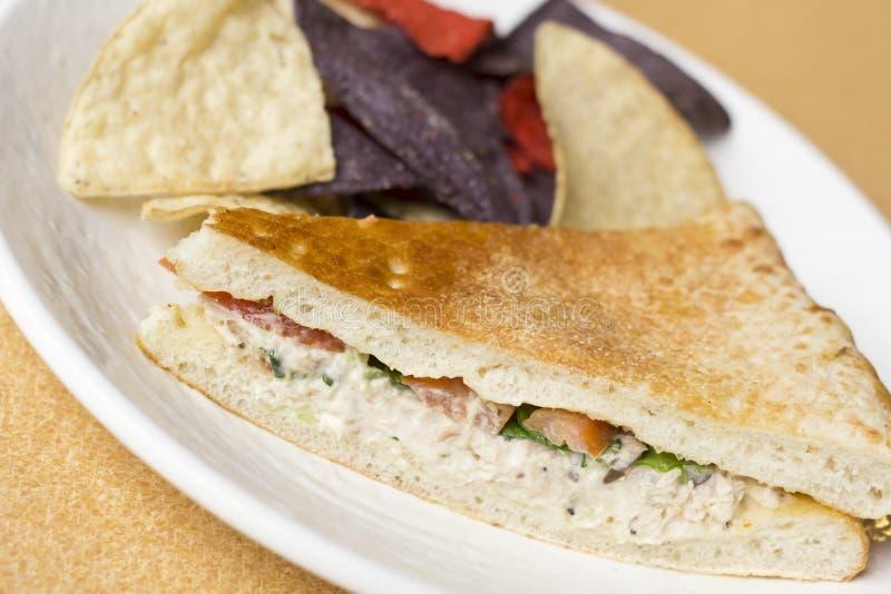 Tuna Panini Tortilla Chips images stock