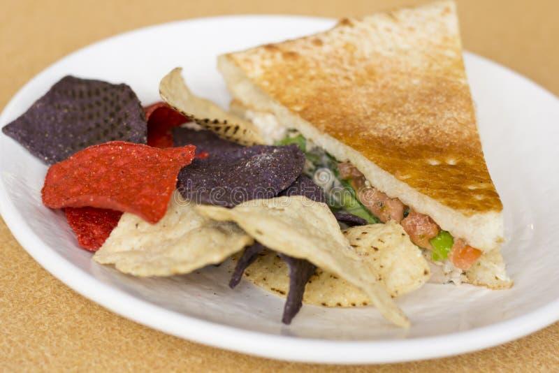 Tuna Panini Tortilla Chips photo stock