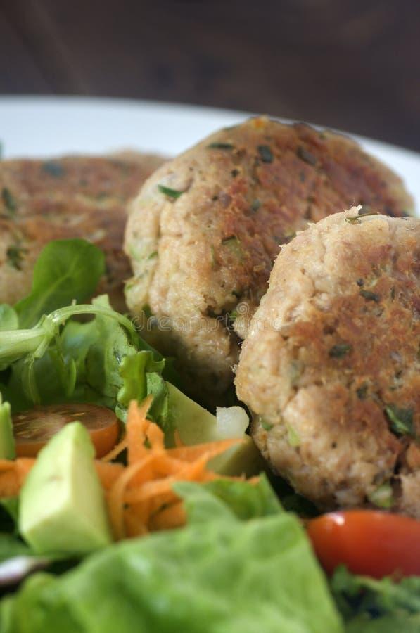 Tuna patties royalty free stock photo