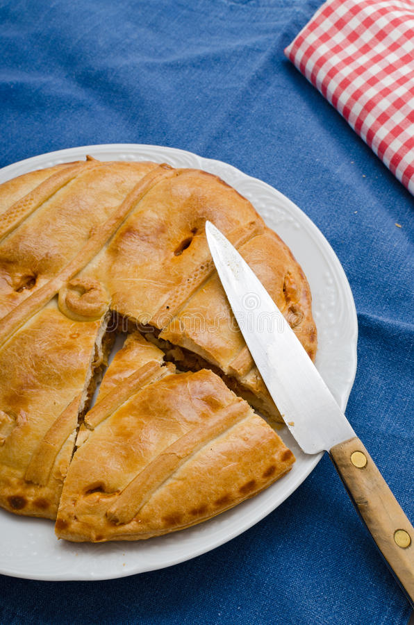 Download Tuna Pie stock image. Image of baking, cooking, blue - 32733903