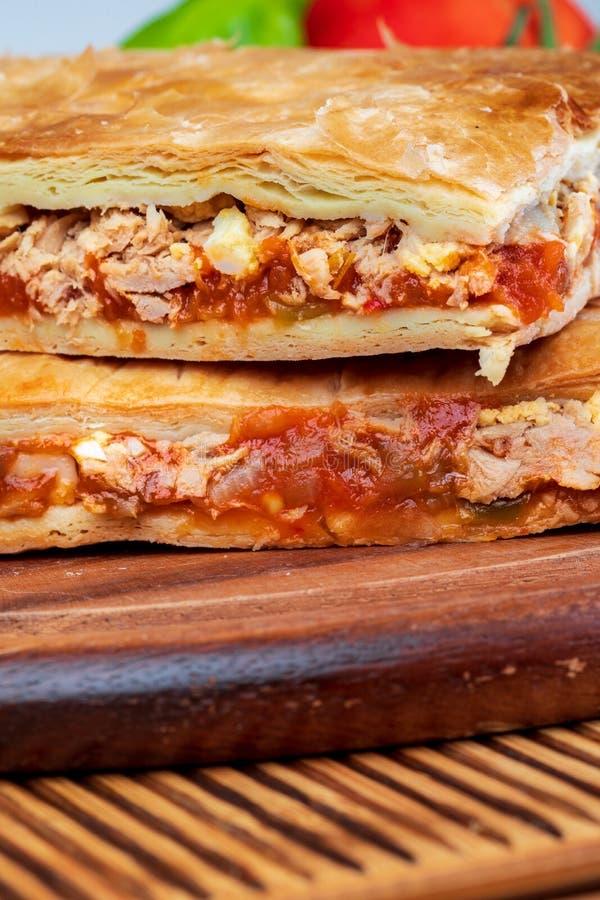 Tuna Pie Prato galego típico Galiza e Espanha fotografia de stock royalty free